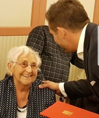 Vera Savier für 50 Jahre in der SPD geehrt, Foto: SPD Herzberg